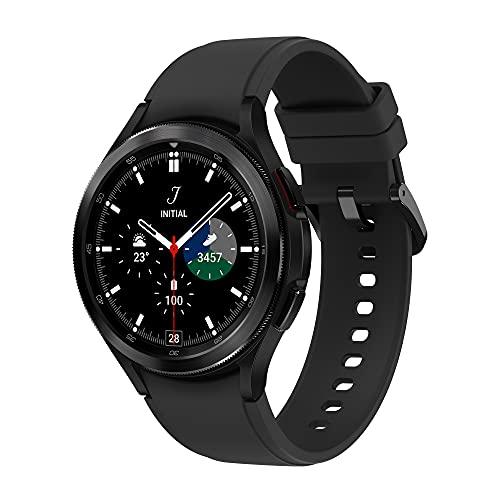 Samsung Galaxy Watch4 Classic – Smartwatch, Bisel Giratorio, Control de Salud, Seguimiento Deportivo, LTE, 46 mm, Color Negro (Version ES)