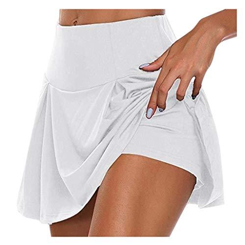 Briskorry Damen Sport Kurze Hose mit Taschen Trainingshose Sporthose Jogginghose Fitness Shorts