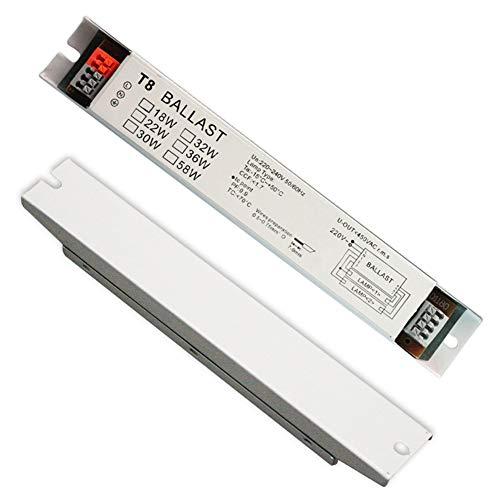 SWED72 T8 220-240V AC 2x36W Wide Voltage Elektronisches Vorschaltgerät Leuchtstofflampe Vorschaltgerät Sofortstart, Wie abgebildet, 2*36w