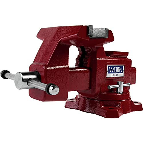 Wilton Tools 28819 Wilton 675U Utility Bench Vise, Red, Jaw Width (in.)...