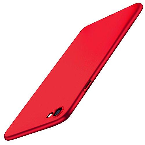 Funda Carcasa iPhone 8 iPhone 7, POOPHUNS Fundas Carcasas Case Caso para iPhone 8 iPhone 7, Rojo, Ultra-Delgado, Anti-Rasguño, Anti-Golpes, Anti-Estático, Ligera, Ajuste Perfecto, Skin Series, Rojo