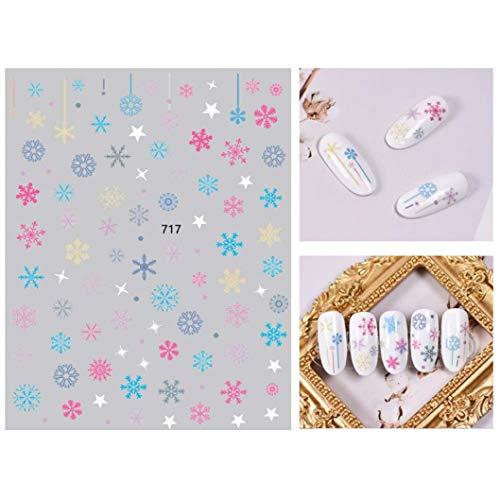 CING Prachtige 11 Stijlen 2 Stks 3D Nagel Applique Kerst Manicure Sticker Kerst Nagel Jurken Up 717