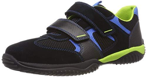 Superfit Jungen Storm Sneaker, Schwarz (Schwarz/Blau 00), 28 EU
