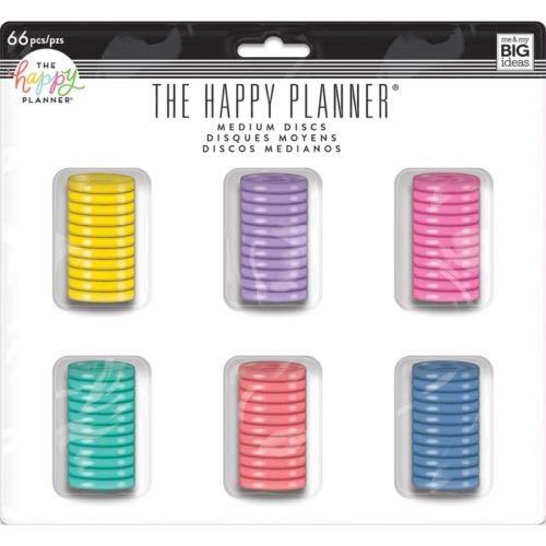 Me & My Big Ideas Happy Planner Medium Disc Value Pack 66/pkg-Multi Color