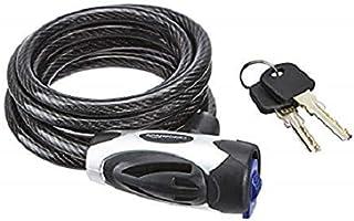 AmazonBasics 6 ft. Adjustable Keyed Bike Cable Lock, Black, 1-Pack