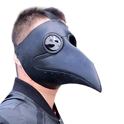 EDECO Máscara de médicos de Peste con protección para los Ojos y Nariz Larga, Personalidad Moda Máscara de Bola de Halloween Suministros para Fiestas navideñas Accesorios de Cosplay,B