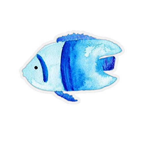 Cool Sticker For Cars, Trucks, Water Bottle, Fridge, Laptops Blue Fish Stickers (3 Pcs/Pack)