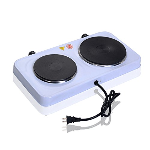 New Electric Double Burner Hot Plate Portable Stove Heater Countertop Cooking