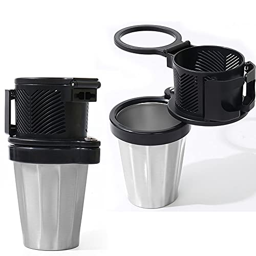 2-in-1 Car Cup Holder Expander Adapter, Multifunctional Car Cup Holder Vehicle Mounted Water Cup, All Purpose Car Cup Holder and Organize (2PCS)