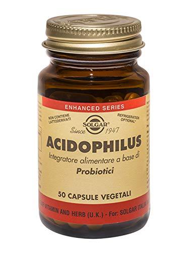 Solgar Acidophilus Integratore Alimentare Di Probiotici 50 Capsule