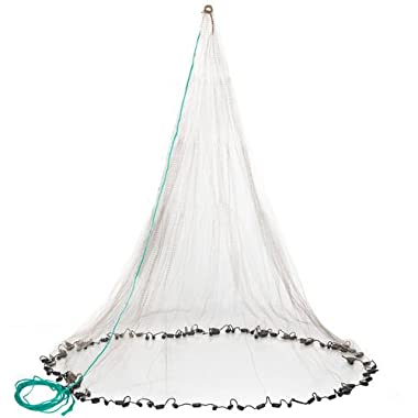 Betts 6PM Old Salt Mono Cast Net, 6-Feet, 3/8-Inch Mesh, 1-Pound Lead per Ft, Boxed