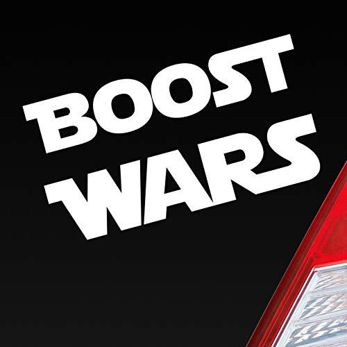 Hellweg Druckerei Auto Aufkleber Boost Wars Turbo Nitro Krieg Race Rennen Car Sticker Fun Folie Weiß Matt