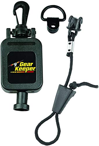 Hammerhead Industries Gear Keeper CB MIC KEEPER Retractable Microphone Holder RT4-4112 – Features Heavy-Duty Snap Clip Mount, Adjustable Mic Lanyard and Hardware Mounting Kit - Made in USA – Black