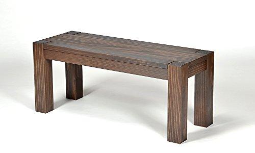 Naturholzmöbel Seidel Sitzbank,Rio Bonito, 80x38cm, Bank Massivholz Pinie, geölt und gewachst, Farbton Cognac braun, Optional: passende Tische