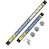 S&R Barra Magnetica per Attrezzi Utensili e Coltelli: 2 barre portautensili (30 e 46 cm) + 3 ganci magnetici
