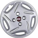 Generico Fiat SEICENTO 600 Brush Copricerchio Borchia Quattro (4) Coppa Ruota 13' 1192 LR Logo Rosso