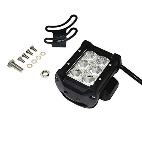 Lorenlli 4 pouces 18W LED travail lumière Inondation/Spot lumière conduite Offroad LED Light Bar 12V 24V 4x4 moto tracteur de bateau de moto