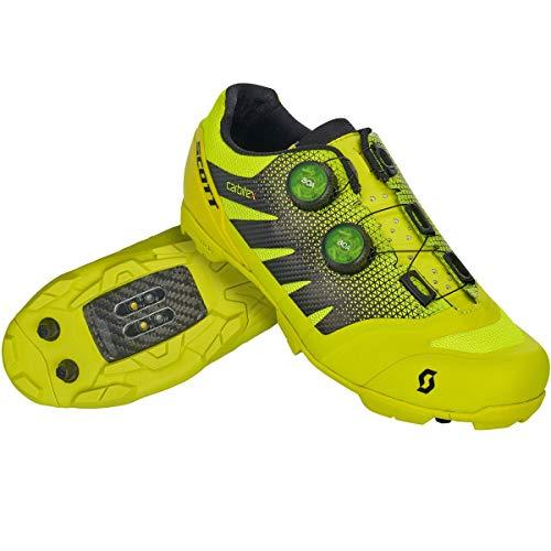SCOTT MTB RC SL Zapatillas de Ciclismo, Hombre, Sulphur Yellow/Black, 45