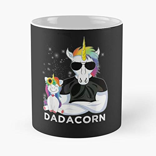Dadacorn Muscle Unicorn Dad Baby Daughter Fathers Day Gift Classic Mug - The Funny Coffee Mugs For Halloween, Holiday, Christmas Party Decoration 11-15 Oz.