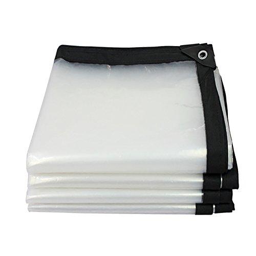 LFF- Couverture résistante imperméable de qualité de Feuille de bâche imperméable de bâche Transparente Faite de bâche de 120 G / ㎡ (Taille : 1X1m)