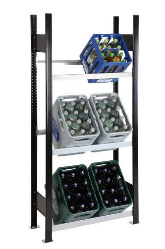 Getränkekistenregal Kastenständer 1800 x 810 x 336 mm, bis zu 6 Kästen; MADE IN GERMANY