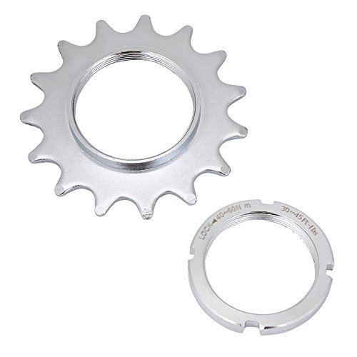 Dioche Single Speed convertitore, singola velocit 13/14/15/16bici ruota libera acciaio Cog Fixed Gear Cogs + Lock Ring, 14 denti