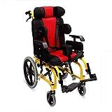 Y-L Leichter Zusammenklappbarer Kinderrollstuhl für Medizinisches Fahren, Cerebralparese-Kinderrollstuhl, Rollstuhl mit Leitplanke -