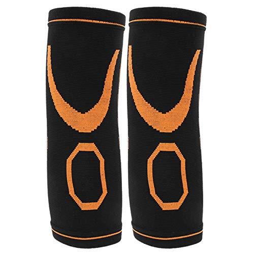 Cosiki ?Aprilgåva?Mjuk armbågsskydd skyddsutrustning, utomhussport armbågsstöd, slitstark andningsbar utomhus sport lindrar smärta kvinna för män (svart+orange)