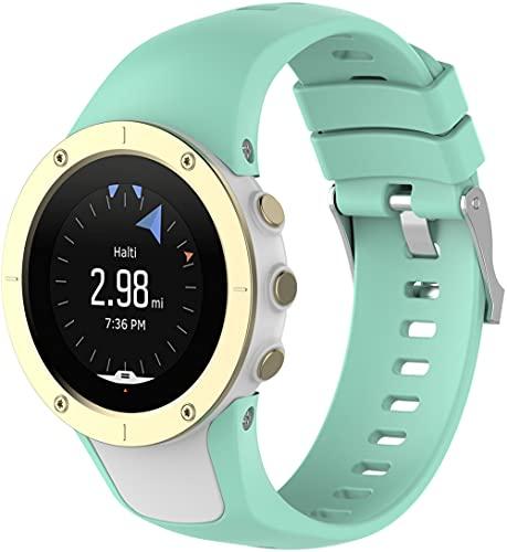 Classicase Correa de Reloj Compatible con Suunto Spartan Trainer Wrist HR, Impermeable Reemplazo Correas Reloj Silicona Banda (Pattern 1)
