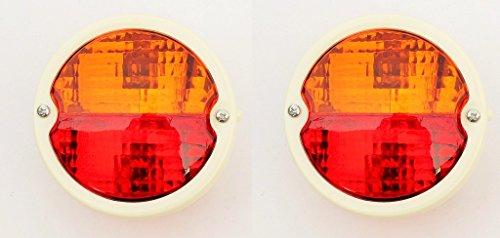 Bajato - Feux Arrêt/Clignotant 2X Rond pour Classique/Vintage Tracteurs avec Fenêtre Plaque Immatriculation - 11000805