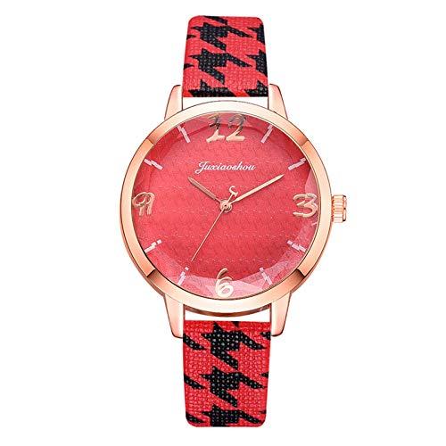 JZDH Relojes para Mujer Relojes de Mujer Moda Oso Cuarzo Relojes de Pulsera Cinturón de Cuero Reloj Casual Reloj GIF Relojes Decorativos Casuales para Niñas Damas (Color : Coffee)