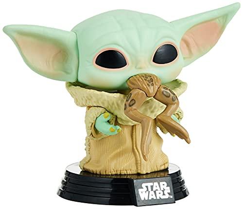 Funko- Pop Star Wars:The Mandalorian-The Child w/Frog Figura Coleccionable,...