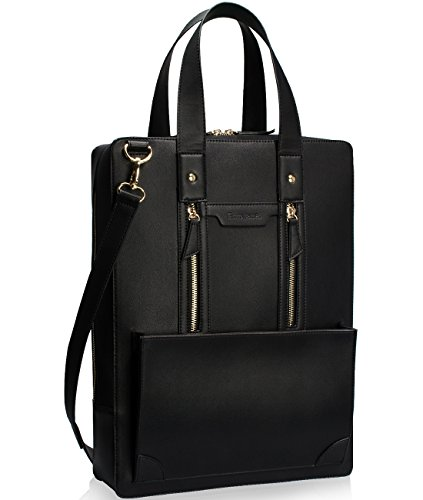 Estarer Women Laptop Bag 15.6' PU Leather Carry Case Large Handbag for Work