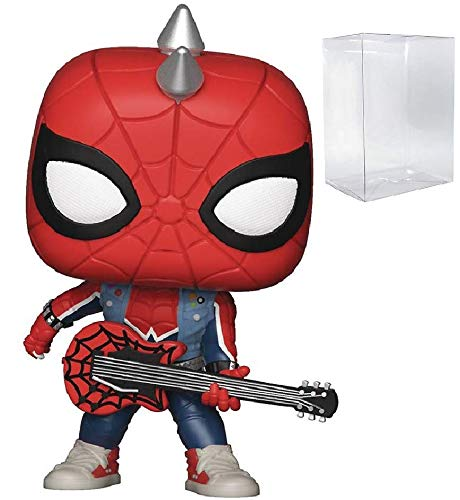 Marvel: Spider-Man - Spider-Punk Funko Pop! Vinyl Figure (Includes Compatible Pop Box Protector Case)