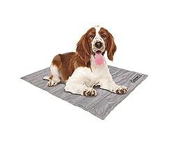 "commercial Coleman Comfort Pressure Activated Cooling Gel Mat for Medium Pets 24 x 30"",… pet cooling mat"