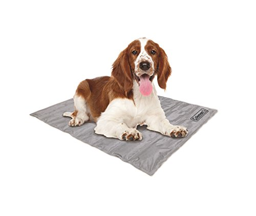 Coleman Pressure Activated Comfort Cooling Gel Pet Pad Mat in Medium 24'x30', For Medium Pets, Keep your pet cool, and reduce joint pain. Year Round Use 100% safe non-toxic materials, Silver