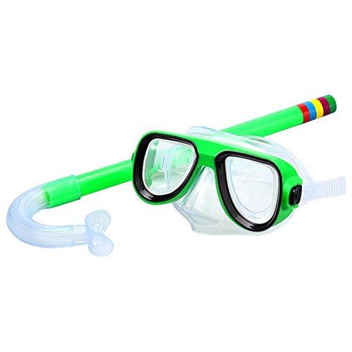 JSJJAUJ Gafas de natación Gafas de natación Niño Buceo Snorkeling Natación Scuba Total Seco Snorkel y Máscara Lente de Vidrio PVC Agua Deportes Mascarillas de Buceo (Color : 03)
