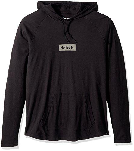 Hurley Men's Premium Long Sleeve Graphic Tshirt Hoodie, Black, M