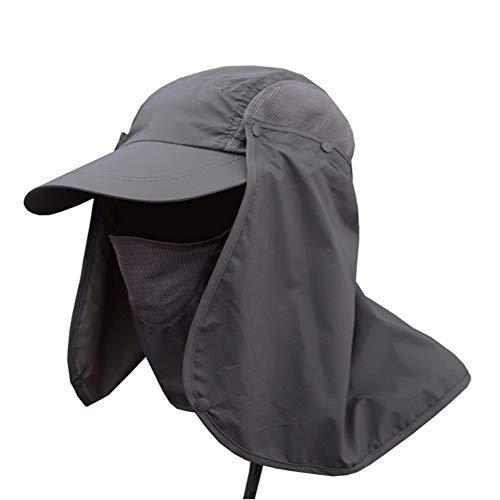 Apxzc Zonne-beschermhoes, ademend, 360 graden met afneembare kleppen, voor hals en gezicht, uv-bescherming, waterdicht, voor strand, camping