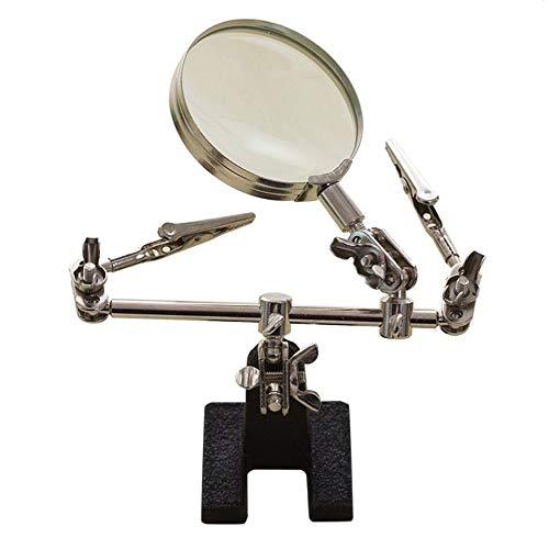 YASE-king 3 6X lupa de mano portátil con clip del sostenedor del metal del soldador del soporte de herramientas de soldadura Con Lupas for el joyero Sellos