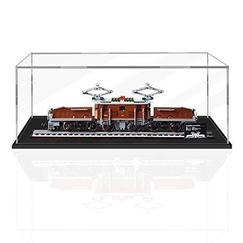 VIPO Schöner Vitrine Acryl Schaukasten Display Case für Lego 10277 Lokomotive Krokodil, Kein Lego-Modell