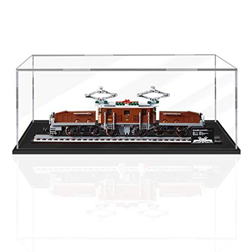 SEREIN Vitrina de acrílico de 3 mm compatible con Lego Crocodile Locomotive 10277 (sin set Lego)