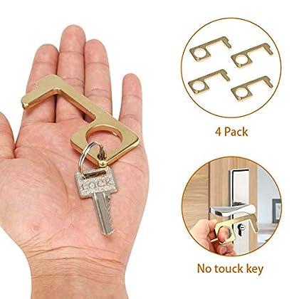 Abrepuertas de latón sin contacto, herramienta de apertura de puerta sin contacto, manija de elevador sin contacto (4…