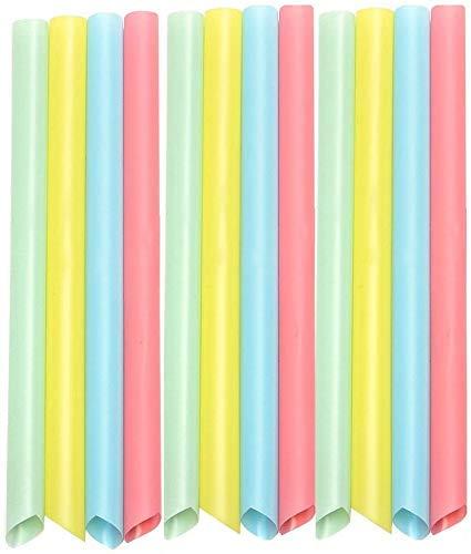 Gekai 100 pajitas grandes de colores mezclados para smoothies, té o batidos,...