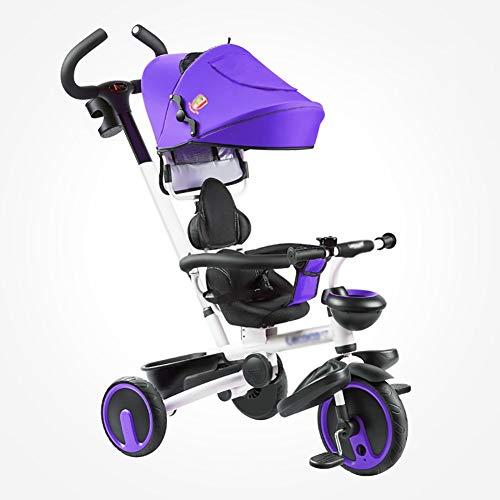 XHSLC Trikes draagbare fiets kinderen kind driewieler 1-6 jaar oude baby voorschoolfiets (kleur: blauw)