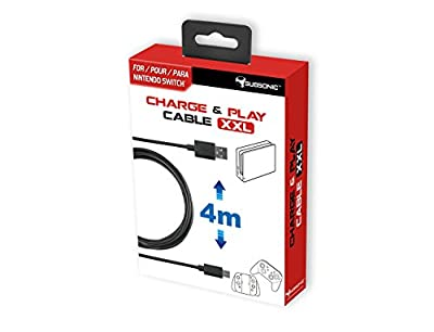Subsonic - Charge and Play Cable 2X-Large - Type C Cable of 4 Meters for Accessories Pro Controller and Joy-Con (Nintendo Switch)