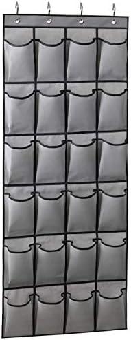 KIMBORA Over The Door Shoe Organizer 24 Large Fabric Pockets Hanging Shoe Rack Hanger Holder product image