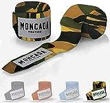 Moncada Fighting 4 Metros Vendas de Boxeo Mujer y Hombre - Cinta de Boxeo elasticas para MMA, Muay Thai, Kick Boxing - Bendas de Boxeo, Boxing Wraps