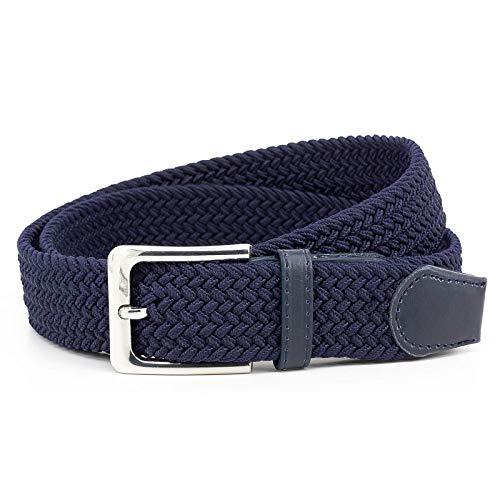 HW 1 cintura elastica blu marino con lunghezza totale 115 cm e larghezza 3,5 cm elastica intrecciata ed elastica.