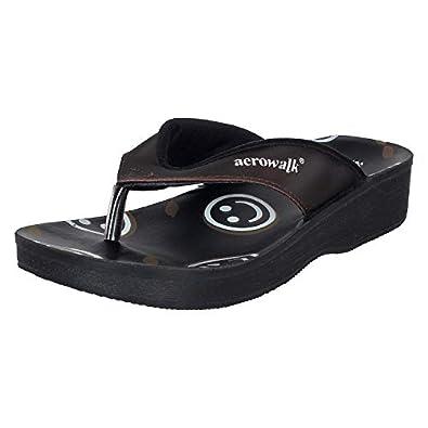 AEROWALK Women's Black Fashion Sandals